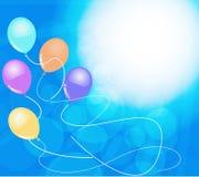Banderas con los globos coloridos Libre Illustration