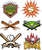 Imagens 2 do basebol Fotografia de Stock Royalty Free