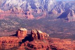 Imagens aéreas das formações de rocha vermelhas de Sedona o Arizona Imagem de Stock