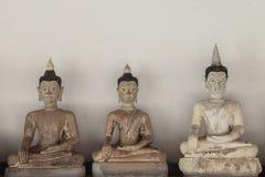 Imagens antigas de Buddha fotografia de stock royalty free