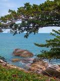 Imagens bonitas na ilha de Phangan fotografia de stock