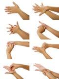 Imagens como lavar a mão Foto de Stock Royalty Free