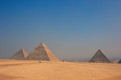 Imagens da cor do vintage de pirâmides de Giza em Egito Fotografia de Stock Royalty Free