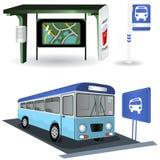 Imagens da estação de autocarro Fotografia de Stock Royalty Free