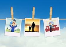 Imagens da família com pai e filho Imagem de Stock