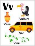 Imagens da letra V do alfabeto Fotografia de Stock