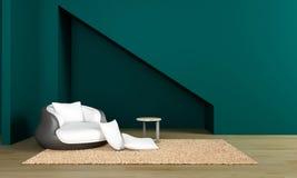 Imagens da rendição da parede 3d do design de interiores Fotografia de Stock Royalty Free