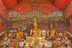 Imagens de Buddha em Wat Phanan Choeng, Ayuthaya, tailandês Fotos de Stock