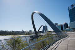 Imagens de Elizabeth Quay Bridge Foto de Stock Royalty Free