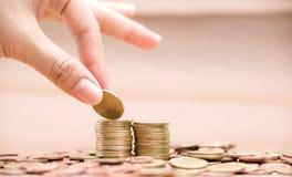 Imagens de moedas asiáticas Fotografia de Stock Royalty Free