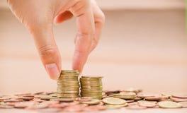 Imagens de moedas asiáticas Fotos de Stock