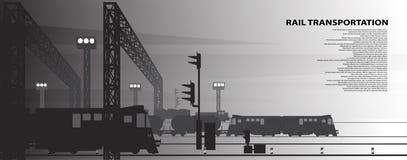 Imagens de uma estação railway do frete ilustração royalty free