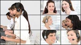Imagens de vídeo de HD de um centro de chamada do negócio