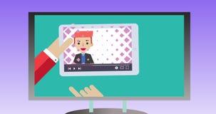 Imagens de vídeo do Explainer para que você aprecie ilustração do vetor