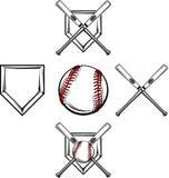 Imagens do basebol/softball ilustração royalty free