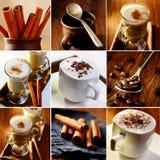 Imagens do collageof do tema do café Foto de Stock
