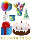 Imagens do feliz aniversario Imagens de Stock