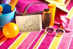 Imagens do feriado na tabuleta Fotos de Stock