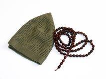 Imagens do misvak e do tesbih do takke usados para rezar 2 Fotografia de Stock Royalty Free