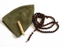 Imagens do misvak e do tesbih do takke usados para rezar Imagem de Stock Royalty Free