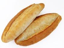 Imagens do pão salmon do forno preto fresco e quente no fundo branco Fotografia de Stock Royalty Free