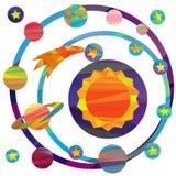 Imagens do vetor dos planetas Imagens de Stock