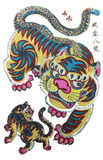 Imagens tradicionais do ano novo - o tigre Imagem de Stock