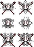 Imagens tribais do vetor do basebol/softball Foto de Stock Royalty Free