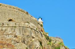 Imagens velhas da fortaleza de Corfu - castelo de Corfu Imagens de Stock Royalty Free
