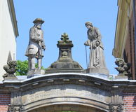Images above the entrance of Bornhof Royalty Free Stock Photos