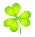 The images of abstract three-leaf clover. Illustration Royalty Free Stock Image