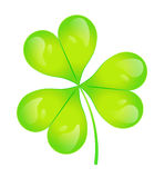 The images of abstract three-leaf clover. Illustration stock illustration