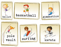 Images of athletic kids Stock Photo