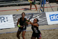 ITF Beach Tennis World Championship 2017 – Women Double Final. Images of Beach Tennis World Championship by ITF and FIT that took place on 1-6 August 2017 in Stock Photography