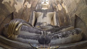 Images Buddha in the ancient church. HD stock video footage