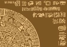 Calendar fragment of ancient civilizations. Stock Images
