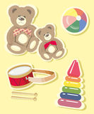 Images of children's toys set. The  image of children's toys set.  A vector illustration Stock Photo