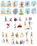 Images of children set Stock Image