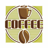 Images on coffee Royalty Free Stock Photo