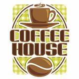 Images on coffee Stock Photography