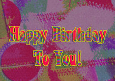 Images for Colorful backgrounds for design illustration.Happy Birthday Royalty Free Stock Image