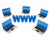 Images of computer network, internet. Technology, IT on white background Royalty Free Stock Photography
