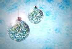 Images courantes de boules bleues de Noël Photographie stock libre de droits