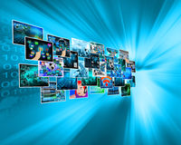 Images in cyberspace Royalty Free Stock Images