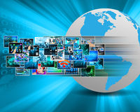 Images in cyberspace Stock Photo
