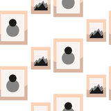 Images dans le modèle sans couture de vecteur de mur de frameson illustration de vecteur