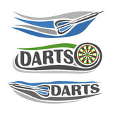 Images on the darts theme Stock Image