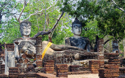 Images de Bouddha en parc historique de Kamphaeng Phet, Thaïlande Images libres de droits