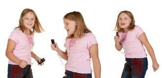 Images de la danse de jeune fille avec le mp3 Photos stock