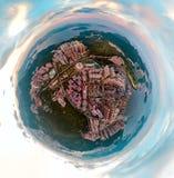 Images de panorama de vue de Hong Kong Cityscape de ciel illustration libre de droits